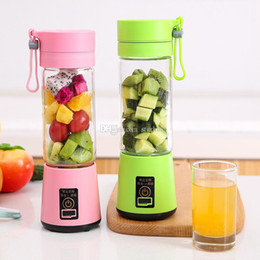 Blender Cups Australia - Personal Blender With Travel Cup USB Portable Electric Juicer Blender Rechargeable Juicer Bottle Fruit Vegetable Tools 4 Color WX9-374