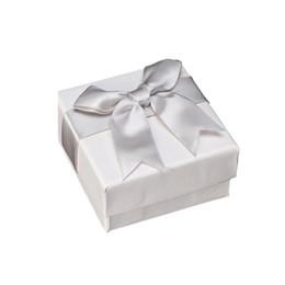 $enCountryForm.capitalKeyWord Australia - Luxury Jewelry Package Box Ring Bracelet Stud Quality White Jewelry Box Jewelry Packaging Case With Bow-Tie 7*7*3.5cm