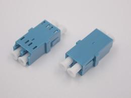 $enCountryForm.capitalKeyWord Australia - 100PCS NEW GONGFENG Fiber Optic Connector LC UPC APC Multi-mode Gigabit LC Dual Core Duplex dual Flange Adapter Coupler Wholesal