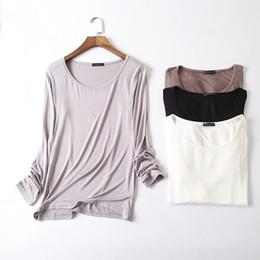 ad198c6c190 Basic T Shirt Women Long Sleeve Womens Tops Spring Autumn Tee Shirt Women  Korean Style T-shirt Cotton New Plus Size Tshirt D107 Y19042101