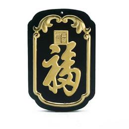 66555760a2d6 Koraba Joyería Fina 24 K Oro Chino Oscuro Verde Jade Tarjeta Cuadrada  Colgante de Cuentas Collar para Hombre Joyería de Lujo