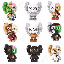 $enCountryForm.capitalKeyWord Australia - Kaws figure Blocks Small Particles Building Toys Bricks Action Figures Fake Blocks Toy for Children 6 colors kids toys christmas gifts