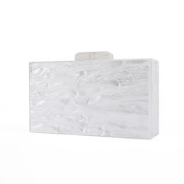 $enCountryForm.capitalKeyWord UK - ashion clutch Fashion Lady Bridal Handmade China Factory Supplier Size 18X10 cm With Mirror Inside Pearl White Acrylic Box Bags Acrylic C...