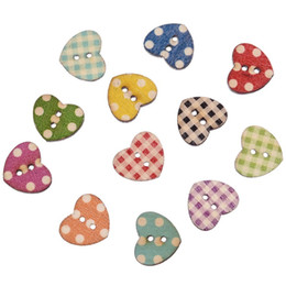 $enCountryForm.capitalKeyWord Australia - craft drill Hot 50PCs Wooden Buttons Mixed Color Heart Pattern Decorative Buttons 2 Holes Fit Sewing Scrapbooking Craft DIY 16x14mm