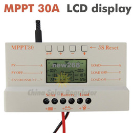 China Freeshipping MPPT 30A solar charge controller 5V USB Charger 12V 24V Solar Panel Battery LCD Charger Controller auto work mppt 30 30Amps suppliers