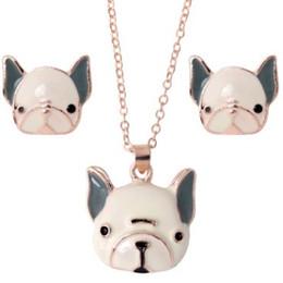 Supply Bonsny Enamel Alloy French Bulldog Pug Dog Stud Drop French Clip Earrings Novelty Animal Jewelry For Girls Women Ladies Bulk Clip Earrings