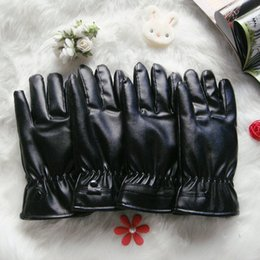 Leather Gloves For Men Australia - Wholesale Warm touch screen leather gloves winter riding motorcycles waterproof PU comfortable gloves for men and women
