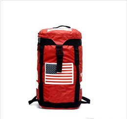Chinese  Brand Large Capacity Backpack Oxford Cloth Waterproof Black Red Outdoor Hiking Rucksack Fashion MenTravel Handbags manufacturers