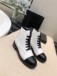 Soft SandalS for ladieS online shopping - Women Martin Ankle Boots in leather Fashion Boots Sneaker with pearl Lady platform Sandals for Party Lovers Genuine Leather Boot with box