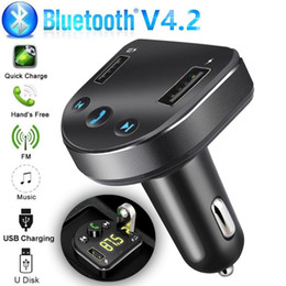 Song mp3 player online shopping - new Bluetooth Car USB Charger FM Transmitter Wireless Radio Adapter MP3 Player Support charge while listening to songs BA