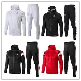 19 20 Paris terno Training Jacket hoodie de 2020 de futebol juvenil Treino Define Hoodies casaco Mbappé com capuz camisola de futebol kit fatos de treino meninos em Promoção