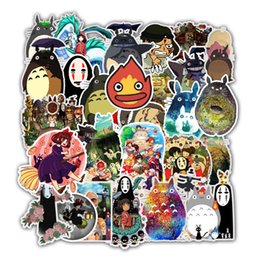 Bicycle figures online shopping - 50 Miyazaki Hayao Anime Mixed Series Stickers For Notebook PC Skateboard Bicycle Car Motorcycle DIY Waterproof Toy Sticker