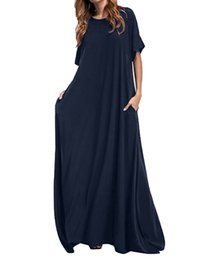 $enCountryForm.capitalKeyWord Australia - Women Half Sleeve Solid Round Neck Long Maxi Dress ZANZEA 2019 Casual Loose Long Elegant Robe Bodycon Dresses Vestidos Plus SizeMX190927