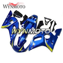 Motorcycle Fairings For Yamaha Australia - Bright Blue Yellow Motorcycle Fairings For Yamaha YZF 600 R6 1998 1999 2000 2001 2002 ABS Plastic Injection motorbike Kits cowlings covers