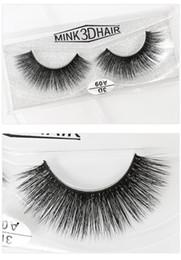 Real Mink False Eyelashes Australia - A06 3D A series 100% Real mink Eye Lashes Thick false Eyelashes a pair of false eyelashes with Crystal box