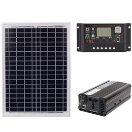 $enCountryForm.capitalKeyWord NZ - Freeshipping 18V20W Solar Panel +12V   24V Controller + 1500W Inverter AC220V Kit, Suitable For Outdoor And Home Solar Energy-Saving P