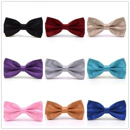 Bowties For Women Australia - bow tie bow ties for Women Men solid bowties adult double layer metal buckle bowtie womens mens neckwear for Wedding Party wholesale