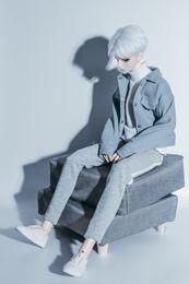 $enCountryForm.capitalKeyWord NZ - BJD doll clothes hooded denim jacket jacket hat detachable 1 4 1 3 SD MSD SSDF Uncle doll accessories