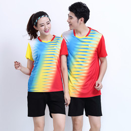Badminton Games Australia - Adsmoney Gym Colorful soccer badminton Jerseys suit,Women Men table tennis clothes team game training running Shirts with shorts