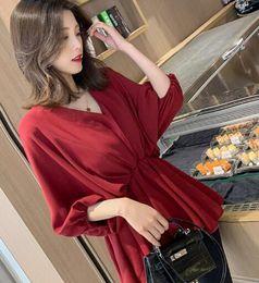 $enCountryForm.capitalKeyWord Australia - Korean version of the V-neck Lantern sleeve waist white casual shirt female chic niche design blouse