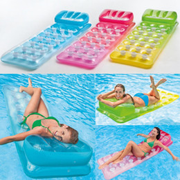 $enCountryForm.capitalKeyWord NZ - Inflatable Water Lounge 188x71cm Water Air Mat Mattress Adult Summer Swimming Pool Toy Inflatable Floating Row LJJZ425