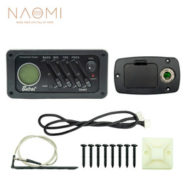 Discount acoustic preamp - NAOMI Guitar Pickup 7545T 4 Band Guitar Preamp Pickup Tuner Equalizer For Classical Acoustic Guitar High Quality New