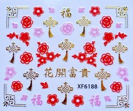 $enCountryForm.capitalKeyWord Australia - 3 sheet 15 type china 3D Nail Water Stickers Designs Nail Art Stickers Decals Makeup Water Tattoos Manicure Tool XF6198-6206