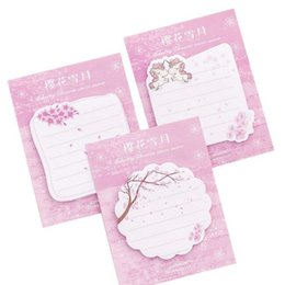 stationery note pad UK - 30 sheets pink notes cute sakura unicorn paper self adhesive memo pads n time sticky notes school office supplies kawaii stationery