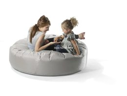 lazy bean bags UK - light grey island bean bag lounger, lazy relaxing beanbag sofa beds, home furniture