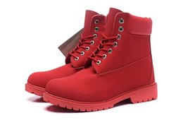 Womens Cowboy Ankle Boots Australia - BEST QUALITY PRICE TIMBER BOOTS 10061 ALL RED MENS WOMENS COW LEATHER WATERPROOF WORK BOOTS COWBOY 6INCH FOOTWEAR WITH FREE QUICK EXPRESS