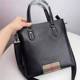 Women nylon briefcase online shopping - designer luxury handbag purse Barbery genuine leather man briefcases high quality business shoulder tote men handbag