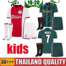 2e9f4571da4 2019 2020 Ajax FC Soccer Jerseys home kids kits 19 20 Customized  7 NERES    10 TADIC  4 DE LIGT  22 ZIYECH Football Shirt