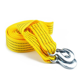 tow cable UK - 5 Ton 4 M Car Traction Rope Heavy Duty Car Tow Cable Towing Pull Rope Strap Hooks Van Road Recovery Accessories
