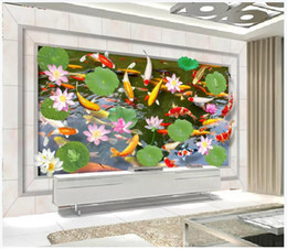 $enCountryForm.capitalKeyWord Australia - Customized 3D Photo Silk Mural Wallpaper Interior decoration 3d three-dimensional squid lotus living room TV sofa background wall
