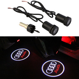 $enCountryForm.capitalKeyWord Australia - 2pcs set Audi A3 A4 A5 A6 A7 A8 S4 S5 S6 S7 S8 Quattro Rline R line RS Car Door Ghost Shadow Welcome Projector Logo Emblem Light
