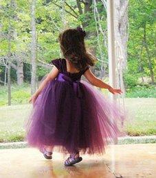 Cheap Green Tutus Australia - Green Purple Flower Girl Dresses Wedding Princess Girl Tutu Pageant Gowns Tulle Kids Dresses Cheap Baby Toodler Girl Dress