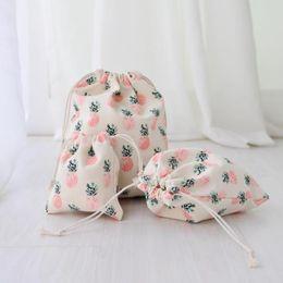 $enCountryForm.capitalKeyWord Australia - Cartoon Fruit Pineapple Cosmetic Bag Travel Zipper Make Up Case Organizer Storage Makeup Pouch Toiletry Beauty Girl Wash Kit Box