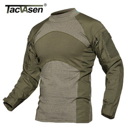 $enCountryForm.capitalKeyWord Australia - Tacvasen Men Summer Tactical T-shirt Army Navy Combat Airsoft Tops Long Sleeve Military Tshirt Paintball Hunt Camouflage Clothes SH190718