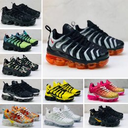 toddler sneakers UK - 2019 toddler kids tn Breathable 2.0 Rainbow Mesh Running Sneakers tns Air Cushion children pour enfants Athletic sport Shoes Plus trainers