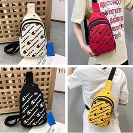 Packing belt straP online shopping - Teenager Champions Waist Fanny Pack Letter Designer Mini Backpack Crossbody Belt Strap Purse Travel Shoulder Bags Fashion Chest Bag C6308