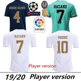 Wholesale Player Version Real Madrid HAZARD BENZEMA home Soccer Jerseys Men player version Football Shirts Sports Uniforms On sale
