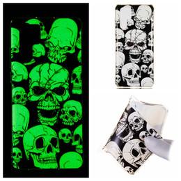 Discount glow dark case - Luminous Case For Sony XZ4 Galaxy S10 Plus Lite Huawei P30 P Smart 2019 Glow In Dark Skull Dreamcatcher Soft TPU Flower