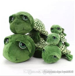 big plush turtles NZ - Lucky Market Big Eyes Green Turtle Plush Toys Cartoon Anime Small Turtle Stuffed Animals Toy Dolls Kids Birthday Christmas Gifts