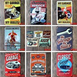 man cave wall art Canada - Metal Tin Signs Sinclair Motor Oil Texaco poster home bar decor wall art pictures Vintage Garage Sign Man Cave Retro Signs 20X30cm LXL218