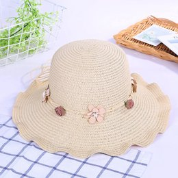 Shades Beige Australia - Summer Fashion Ladies Sun-Shade Beach Grass Hat Sun-Block Travel Garland Hat Sun Foldable