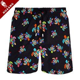 Wholesale turtle boy online – design New Arrival Summer Mens Fashion Shorts Surf Board Shorts Casual Sport Beach Short Pants Quick Dry Fashion Turtle Print Boys Boardshorts T09