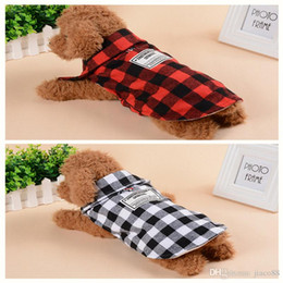 Coating Products NZ - 2 Colors Dog Apparel Plaid Coat Winter Autumn Pet Products Dog Clothes Pets Coats Puppy Clothing for Sale S-2XL Jacket Casual Style
