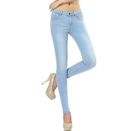 $enCountryForm.capitalKeyWord UK - Wqjgr Spring And Autumn Outfit Size Women Jeans Waist Slimming Feet Pencil Blue Women Jeans Women Long Pants MX190712