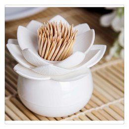 $enCountryForm.capitalKeyWord Australia - Home Decor Toothpicks Holders Lotus Storage Home Decoration Cotton Swabs Amphibious Case with Cover Bathroom Living Room Good Quality