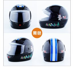 Discount kids motorcycle - motorcycle kids helmets Clearance Sale Cheapest Price baby Helmets safe kids full face helmet children bicycle muffler c